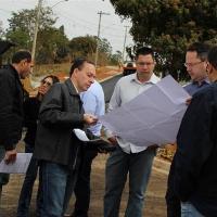 Presidente da Câmara Prof. Fabiano visitou obras ao lado do prefeito Saulo