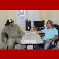 Zé Machado recebe o vereador Quique Brown, de Bragança Paulista, em seu gabinete